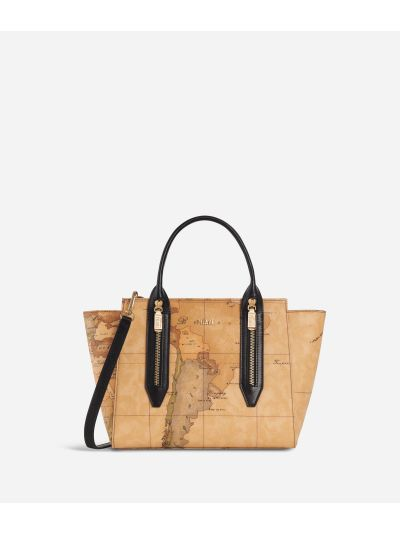 Autumn Geo Small Handbag Black