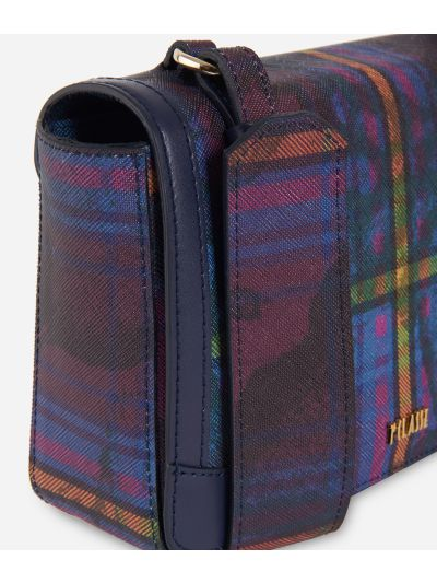 Geo Tartan Crossbody Bag Multicolor