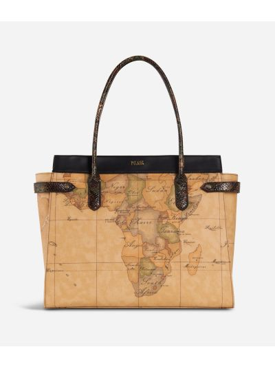 Fantasy Geo Shopping bag Black