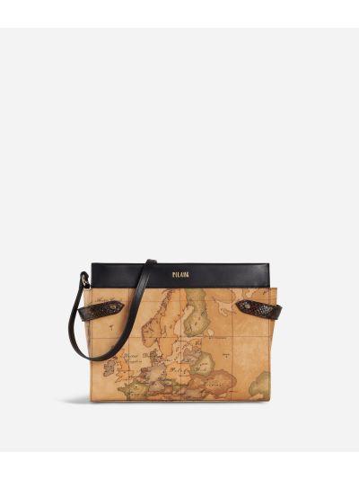 Fantasy Geo Crossbody Bag Black