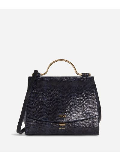 Polar Star Handbag with python print Blueberry