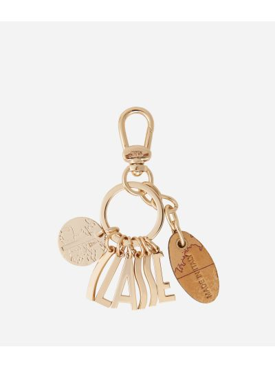 Lettering charms Keyring Light Gold