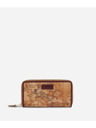 Soft Wood Ziparound Wallet Cabernet