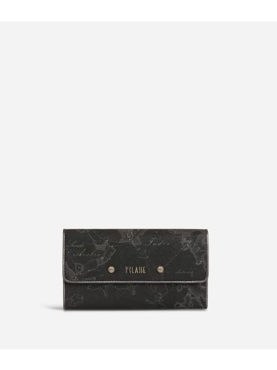 Geo Silver Night Big Wallet Black