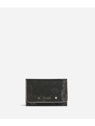 Geo Silver Night Bifolder Wallet Black