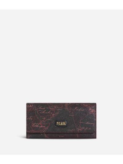 Geo Rosewood Wallet Cabernet