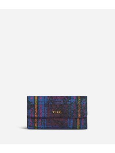 Geo Tartan Bifolder Wallet Multicolor