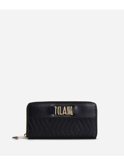 Starlight Line Ziparound Wallet Black