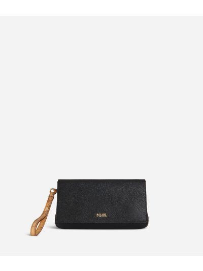 Sky City Clutch con polsiera Nero