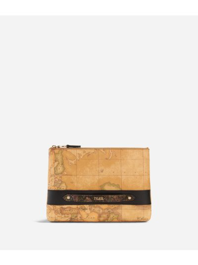 Fantasy Geo Clutch Black