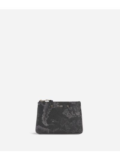 Geo Silver Night Pouch Black