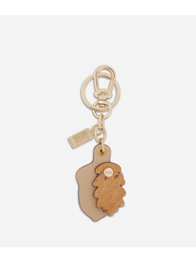 Acorn shape Keyring Cream