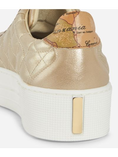 Sparkling Sneakers con platform Oro