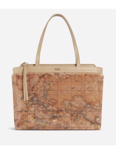 Artic Map Eco-fur Shopping Bag