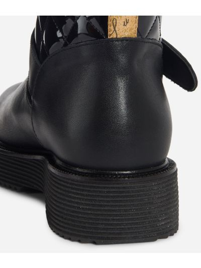 Sparkling Biker boots with buckle Black