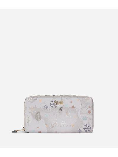 White Snow Zip-around Wallet White