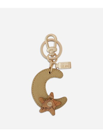 Star City Moon shape Keyring Gold