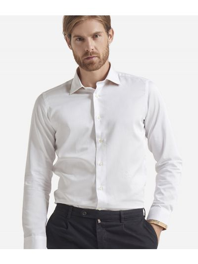 Slim fit cotton shirt White