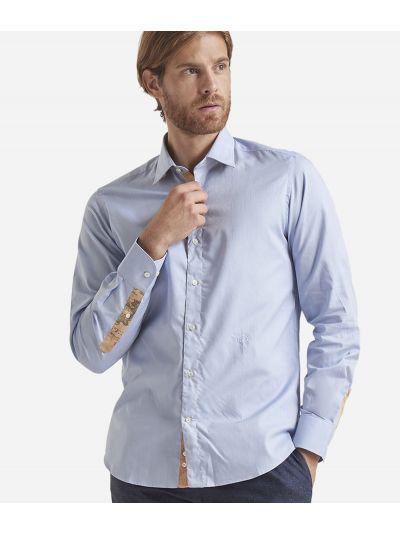 Regular fit cotton shirt Light Blue