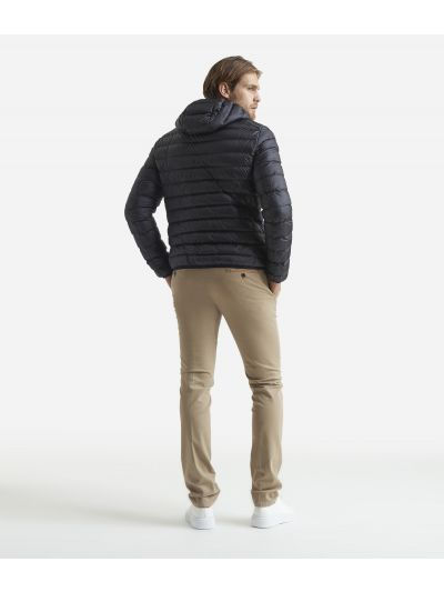 Padded bomber with hood Black
