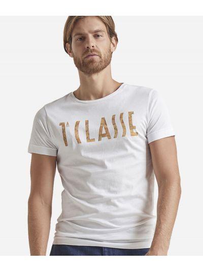 T-shirt manica corta con logo Bianca