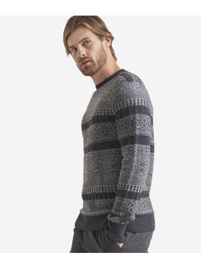 Alpace blend crewneck sweater Grey