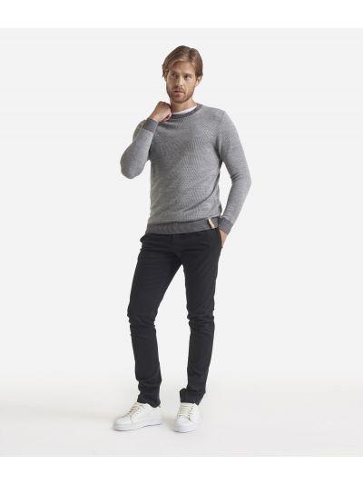 Wool blend crewneck sweater Blue