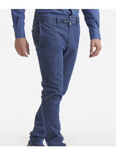 Super slim cotton trousers Dark blue