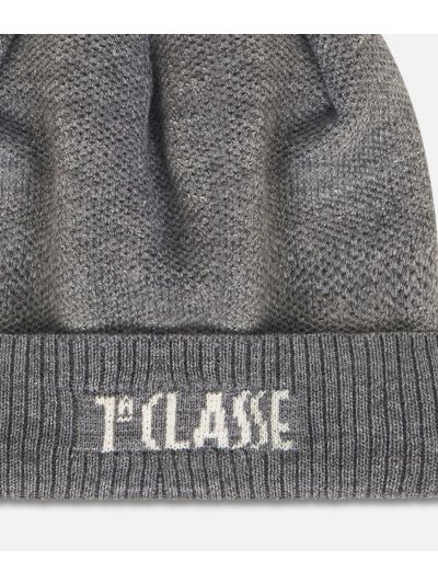 Wool bleand beanie Dark Grey