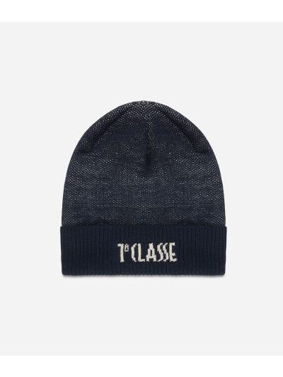 Wool bleand beanie Blue