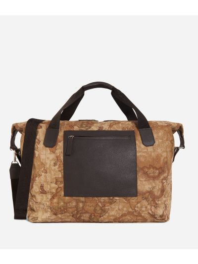 Geo Classic print canvas duffle bag