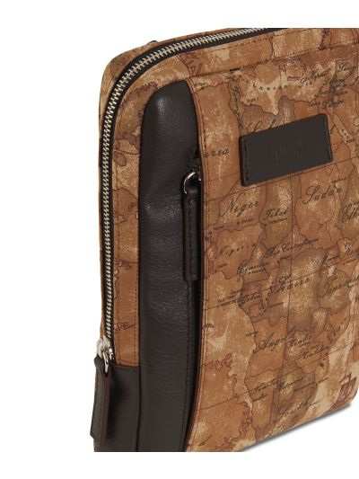 Geo Classic print canvass crossbody bag