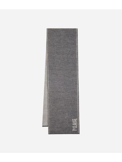 Wool blend scarf Dark Grey