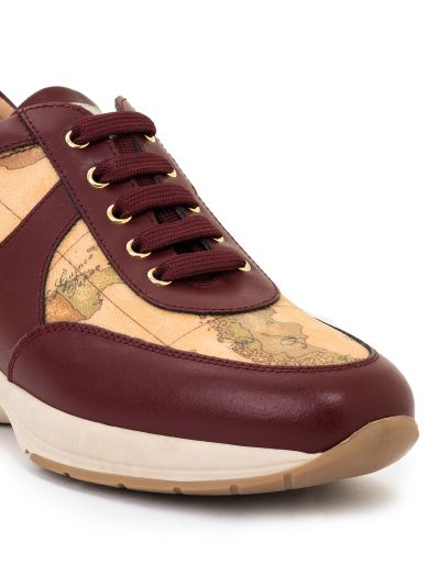 Geo Crossing sneakers in leather and Geo Classic Bordeaux