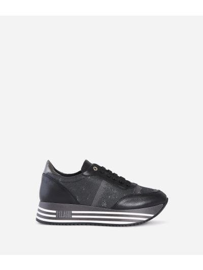 High Sneakers in tessuto Geo Nero Nero