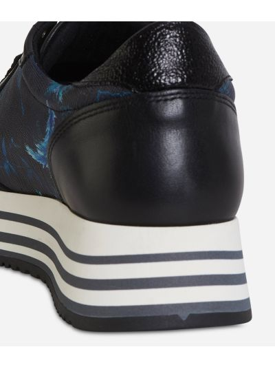 Magic Forest print High Sneakers Blueberry