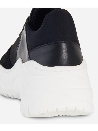 Sneakers High in nabuk e Geo Night Nero