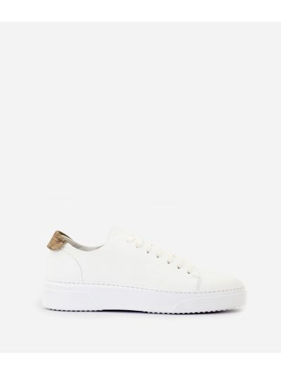 Pebbled leather sneakers White