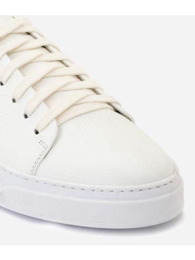 Sneakers in pelle bottalata Bianca
