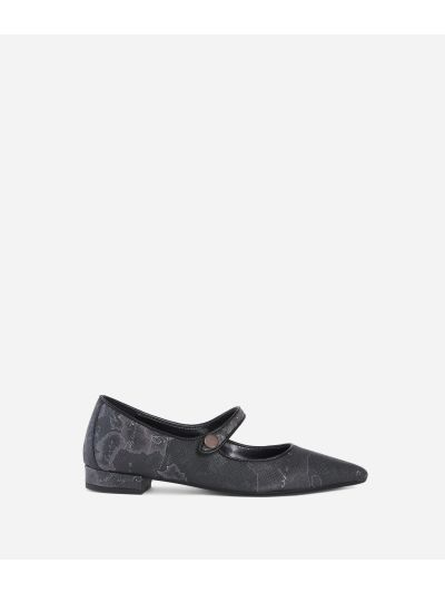 Geo Night pointed ballet flat Black