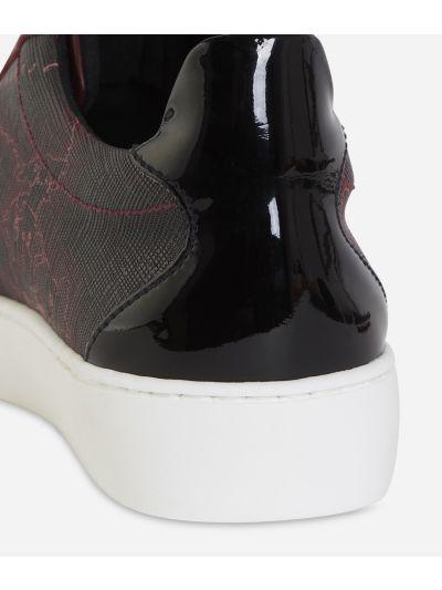 Geo Rosewood print sneakers Bordeaux