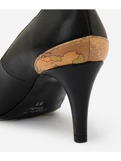 Geo Classic print nappa pumps Black