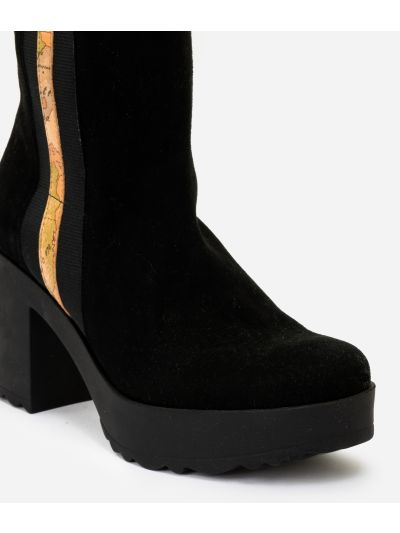 Suede leather boots Black