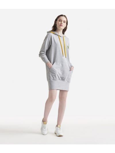 Mini fleece dress Grey