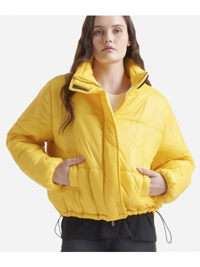 Oversize padded nylon jacket Yellow