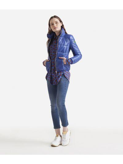 Padded nylon jacket Blue