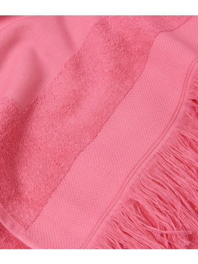 Beach towel with Maxi Logo Pink