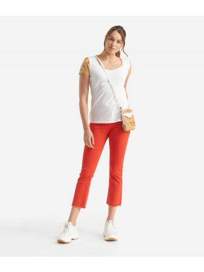 Donnavventura 5-pockets pants in drill stretch Orange