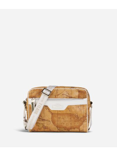 Donnavventura Crossbody bag with Geo Classic print White