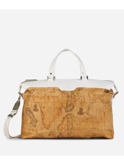 Donnavventura Duffle bag with Geo Classic print White